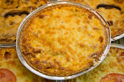 Large Bacon and Leek Quiche